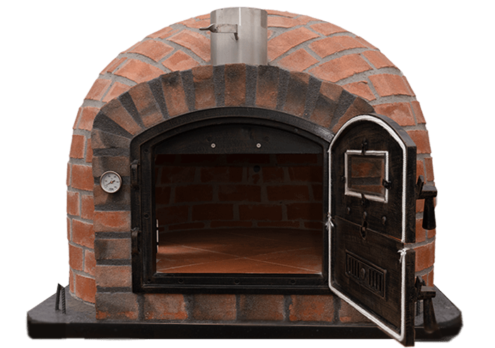 Brick Oven Door Open